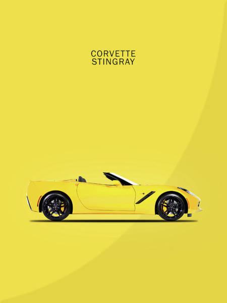 Corvette In Yellow Poster