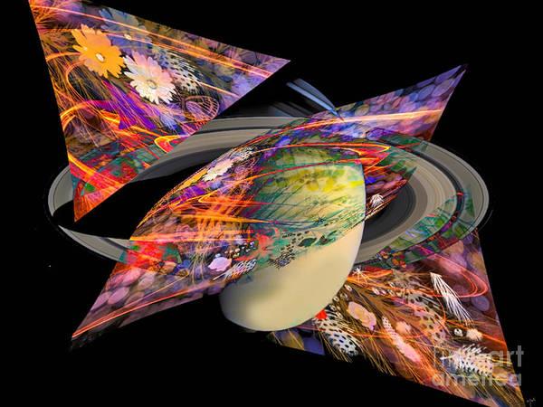 Poster featuring the digital art Cosmic Sensation by Eleni Mac Synodinos