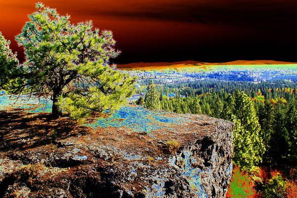 Cosmic Spokane Rimrock Poster