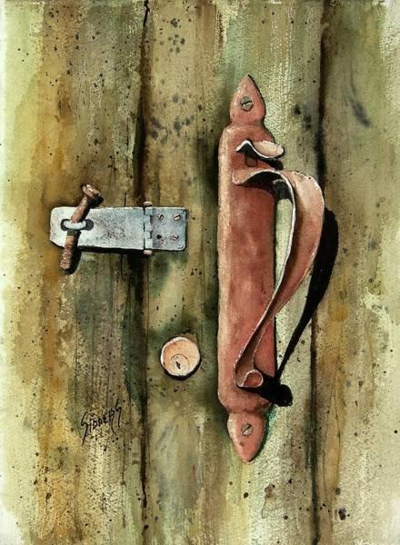 Country Door Lock Poster