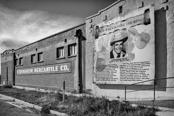 Country Legend Bob Wills In Roy New Mexico Poster