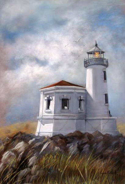 Couquille River Lighthouse  Bandon Ore. Poster