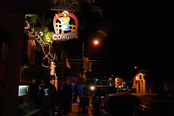 Cowgirl Bar In Santa Fe Poster