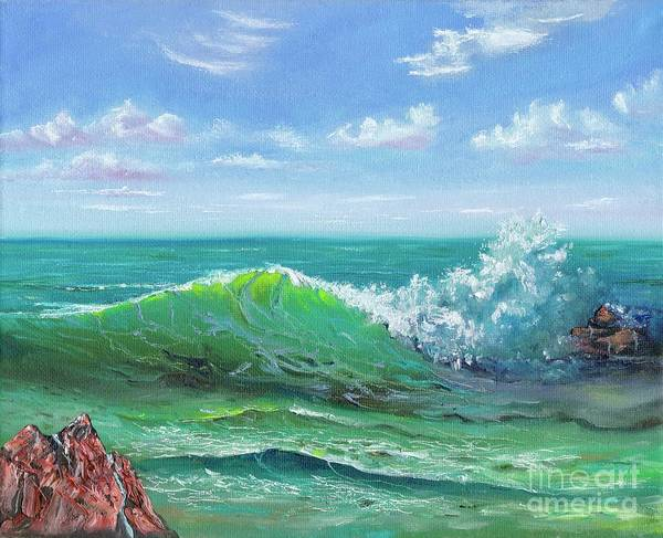 Poster featuring the painting Crashing Wave by Mary Scott