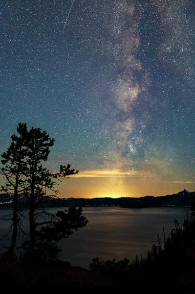 Crater Lake Milky Way Poster