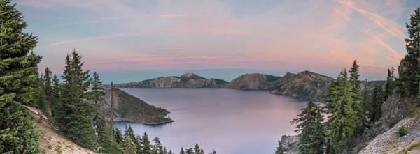 Crater Lake Sunset Poster