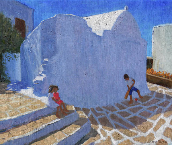 Cricket By The Church Wall, Mykonos  Poster