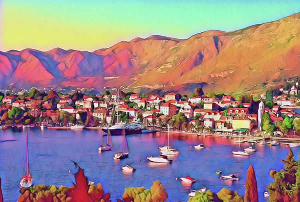 Croatia Coastal Living Poster