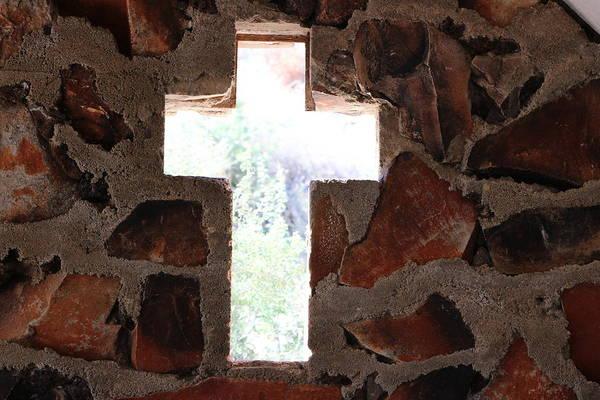 Cross Shaped Window In Chapel  Poster