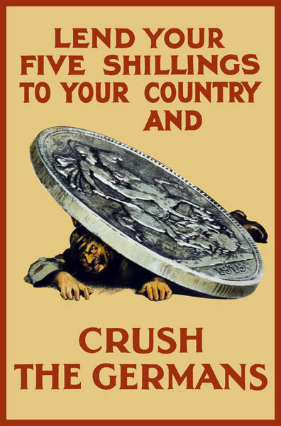 Crush The Germans - Ww1 Poster
