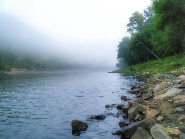 Poster featuring the photograph Cumberland River At Wolfe Creek Dam 2 by Sam Davis Johnson