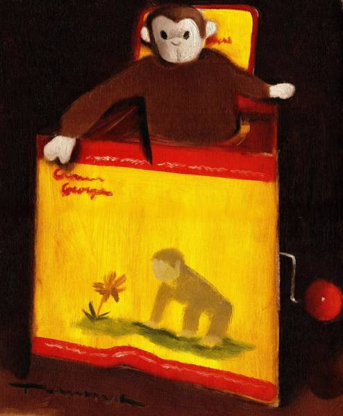 Curious George Still Life Jack In The Box  Art Print Poster