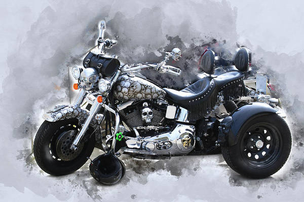 Customized Harley Davidson Poster