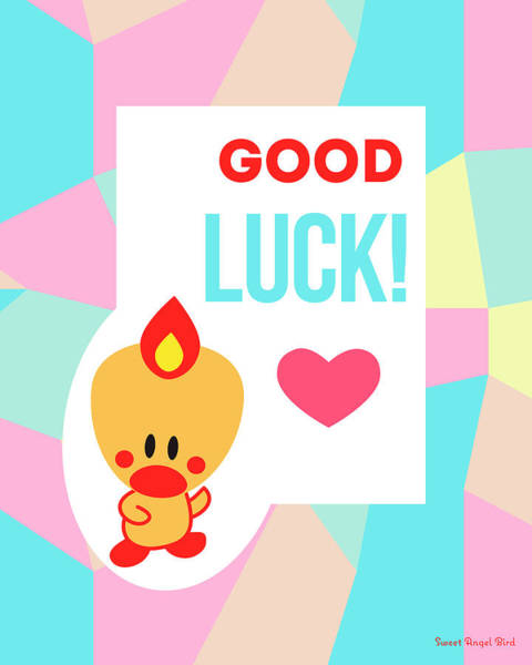 Cute Art - Sweet Angel Bird Pastel Colorblock Good Luck Wall Art Print Poster