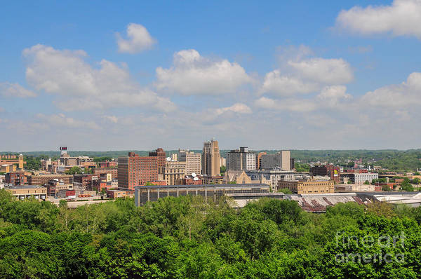 D39u118 Youngstown, Ohio Skyline Photo Poster