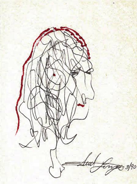 Da Vinci Drawing Poster