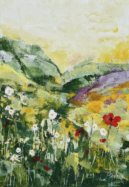 Daisies And Poppies Poster
