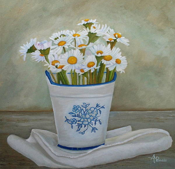Daisies And Porcelain Poster