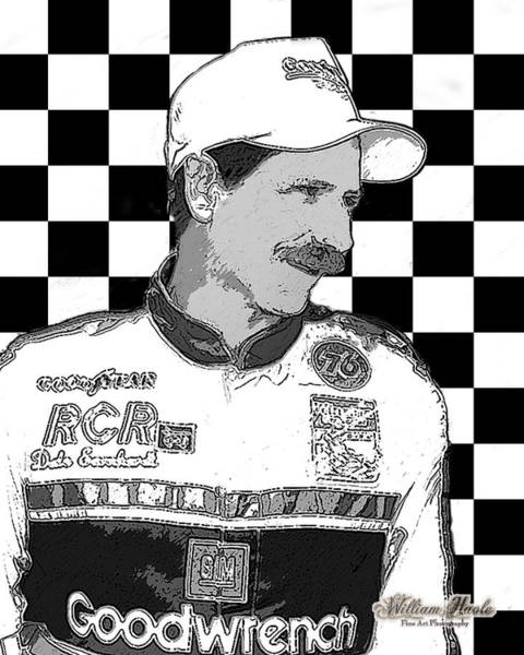 Poster featuring the digital art Dale Earnhardt Sr by William Havle