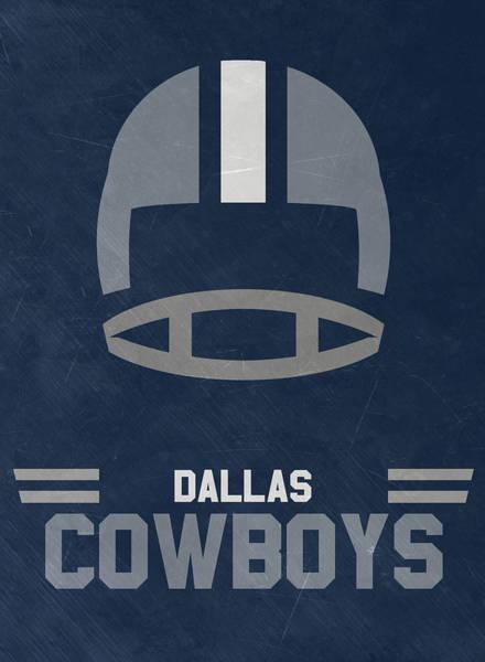 Dallas Cowboys Vintage Art Poster