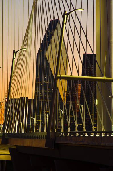 Dallas Through Bridge Poster