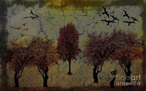 Dark Autumn Night Poster