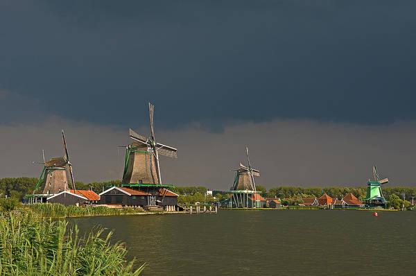 Dark Clouds Above Zaanse Schans Poster
