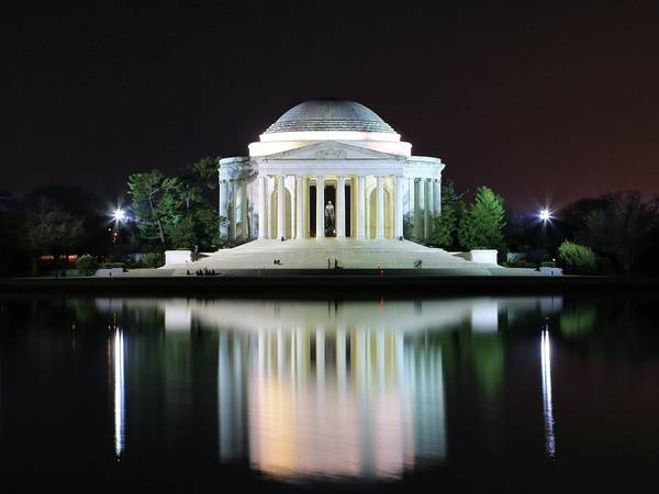 Darkness Over The Jefferson Memorial Poster