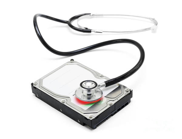 Data Recovery Stethoscope And Hard Drive Disc Poster