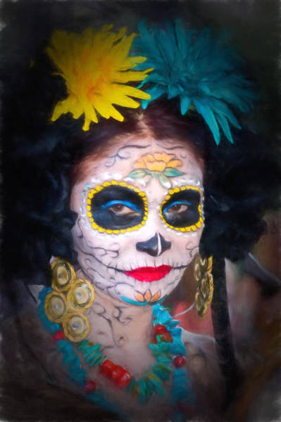 Day Of The Dead Flower Lady Poster