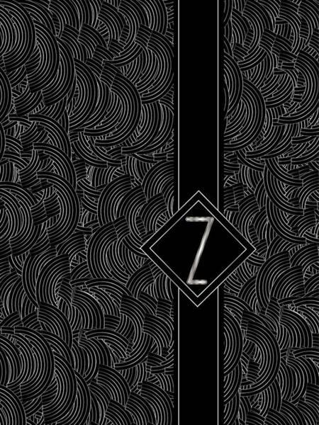 Deco Jazz Swing Monogram ...letter Z Poster
