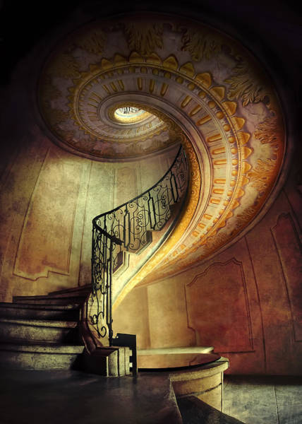 Decorated Spiral Staircase  Poster
