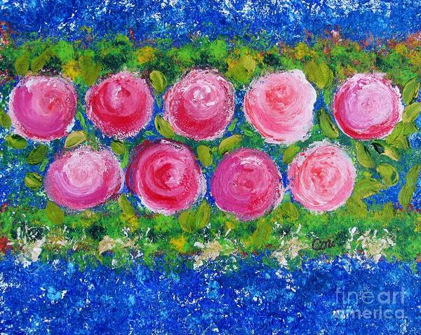 Deep Pink Flowers Poster