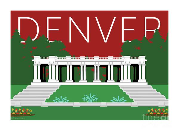 Denver Cheesman Park/maroon Poster