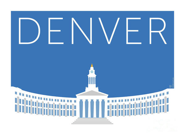 Denver City And County Bldg/blue Poster