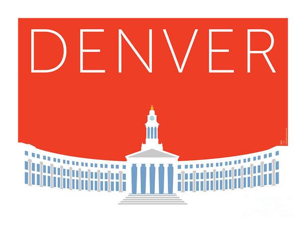 Denver City And County Bldg/orange Poster