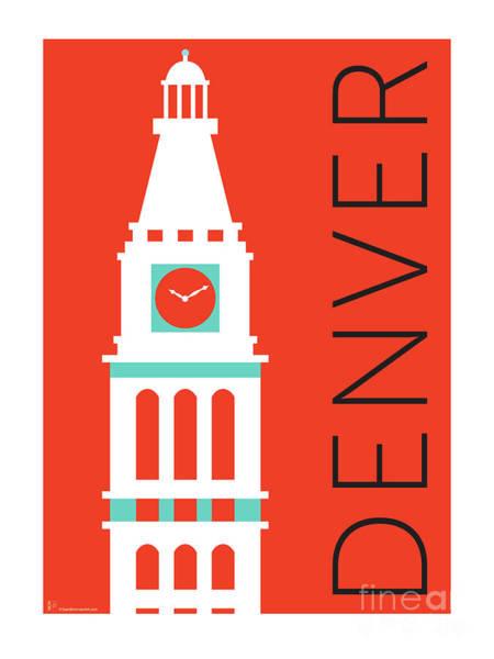 Denver D And F Tower/orange Poster