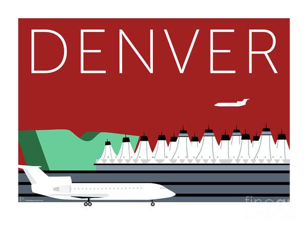 Denver Dia/maroon Poster