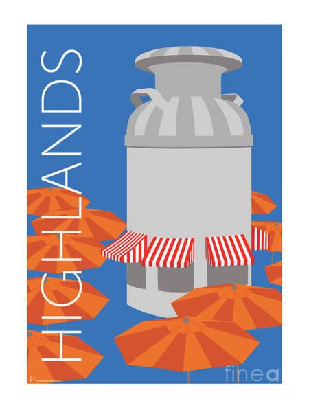 Denver Highlands/blue Poster