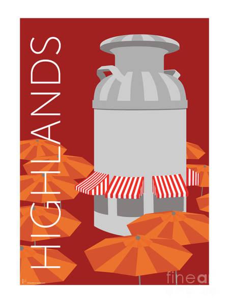 Denver Highlands/maroon Poster