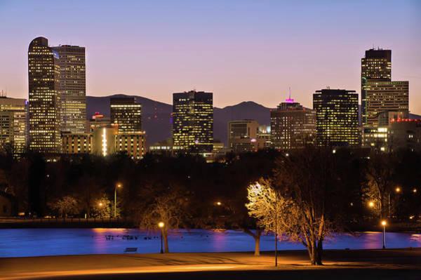 Denver Skyline - City Park View Poster