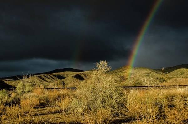 Desert Double Rainbow Poster
