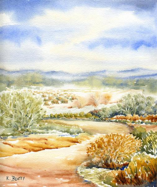 Desert Landscape Watercolor Poster