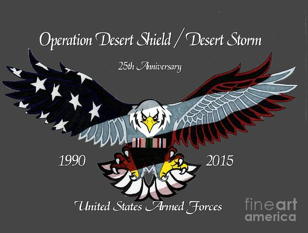 Desert Storm 25th Anniversary Poster