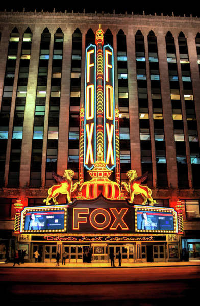 Detroit Fox Theatre Marquee Poster