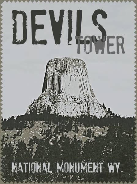 Devils Tower Stamp Poster