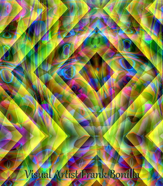 Poster featuring the digital art Diamond In The Grass by Visual Artist Frank Bonilla