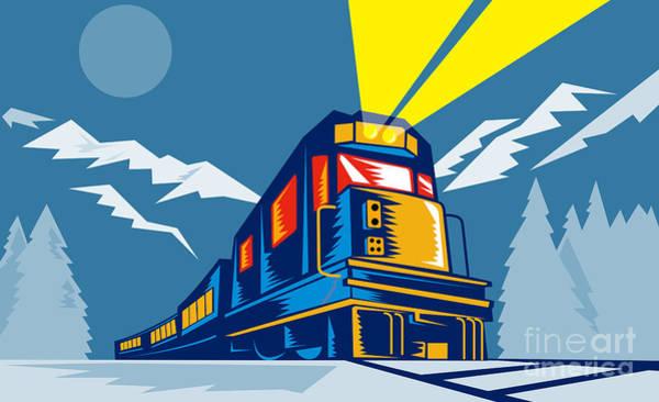 Diesel Train Winter Poster