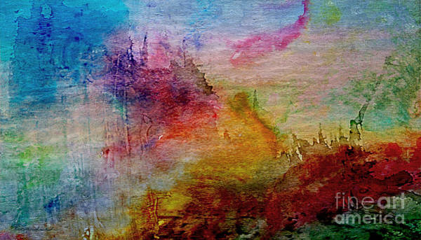 1a Abstract Expressionism Digital Painting Poster