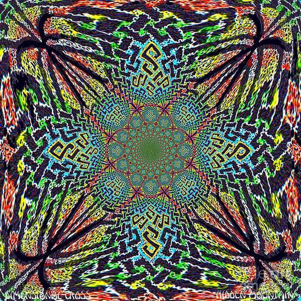 Dimensional Celtic Cross Poster